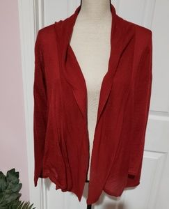 LANE BRYANT RED OPEN FRONT SWEATER